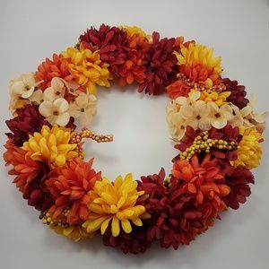 "Other - 15"" Custom Made Fall Wreath Autumn Colours"